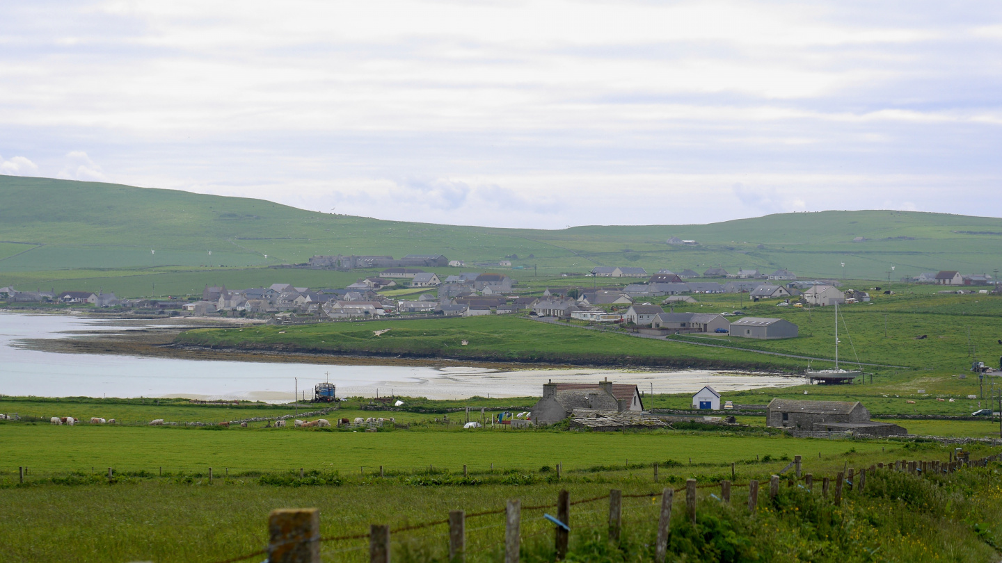 Village of Pierowall on Westray