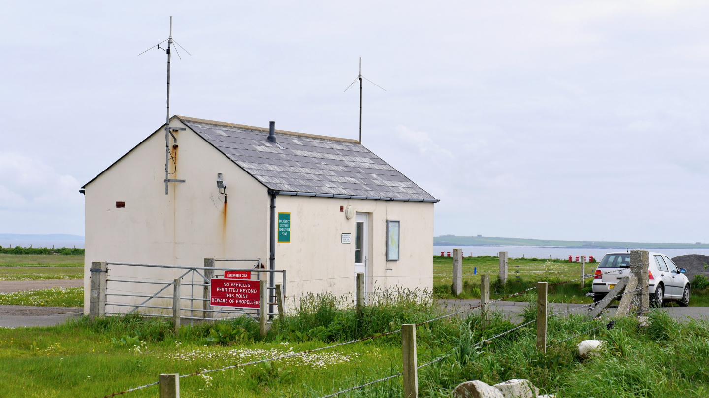 Airport of Westray in Orkney