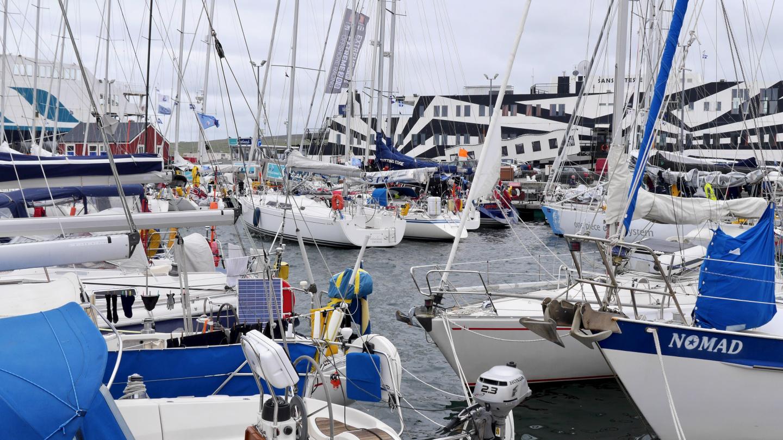 Boats of the Shetland Race in Lerwick