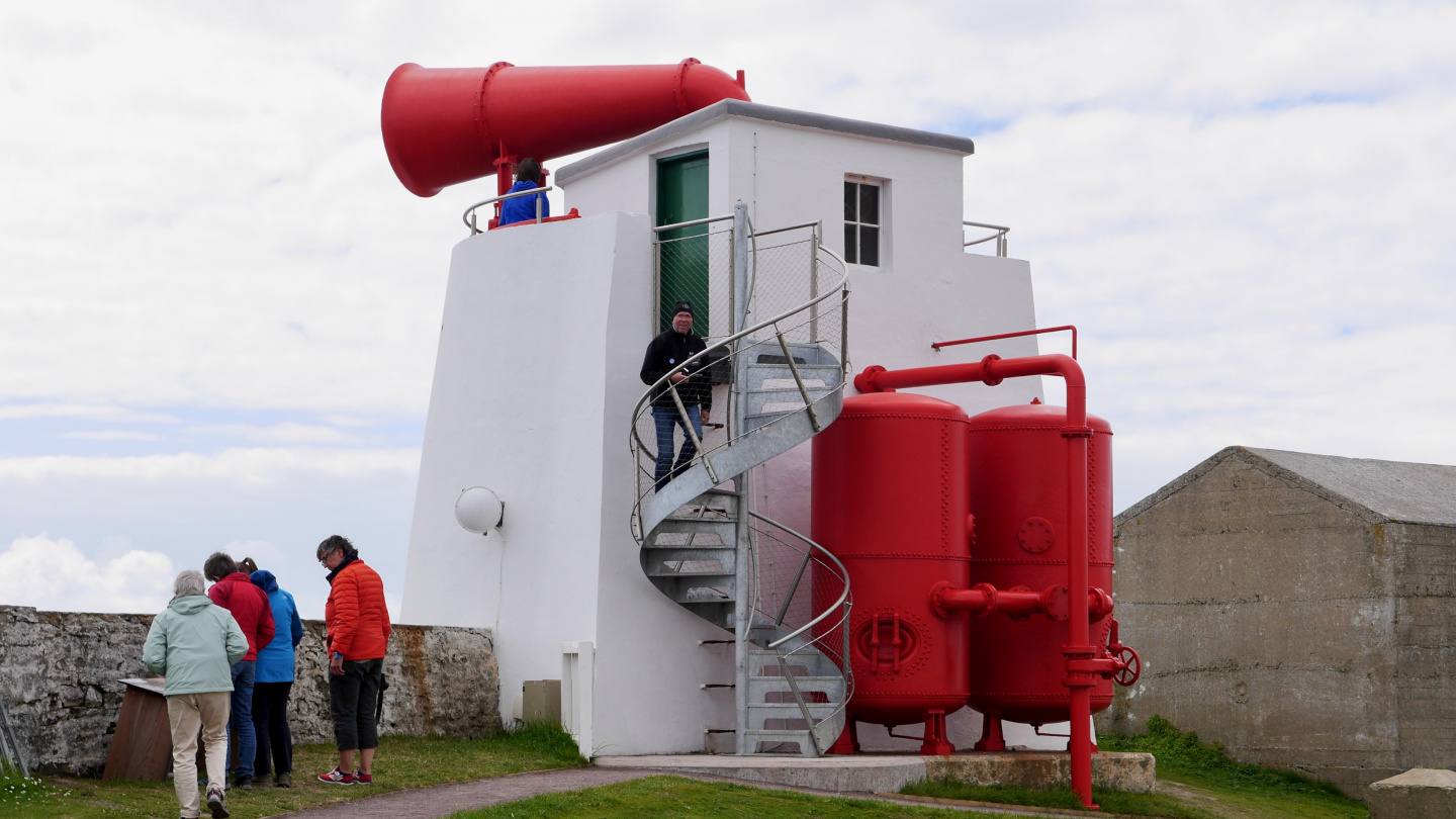 Foghorn of the Sumburgh Head in Shetland