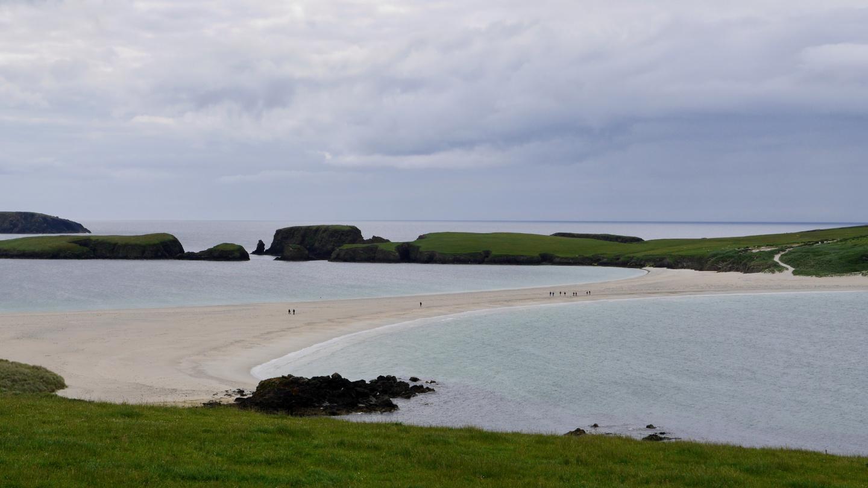 St Ninians saaren hiekkakynnäs Shetlannissa