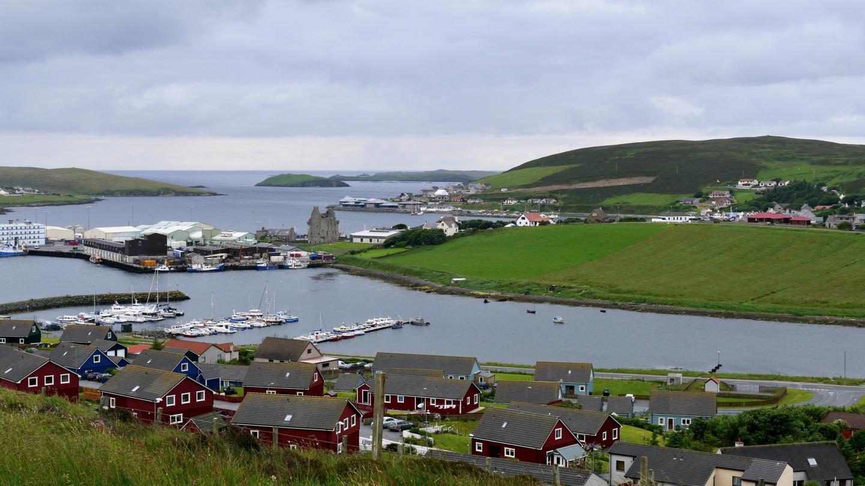 Scalloway village in Shetland