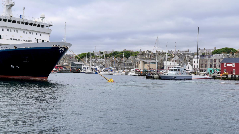 Lerwick harbour in Shetland