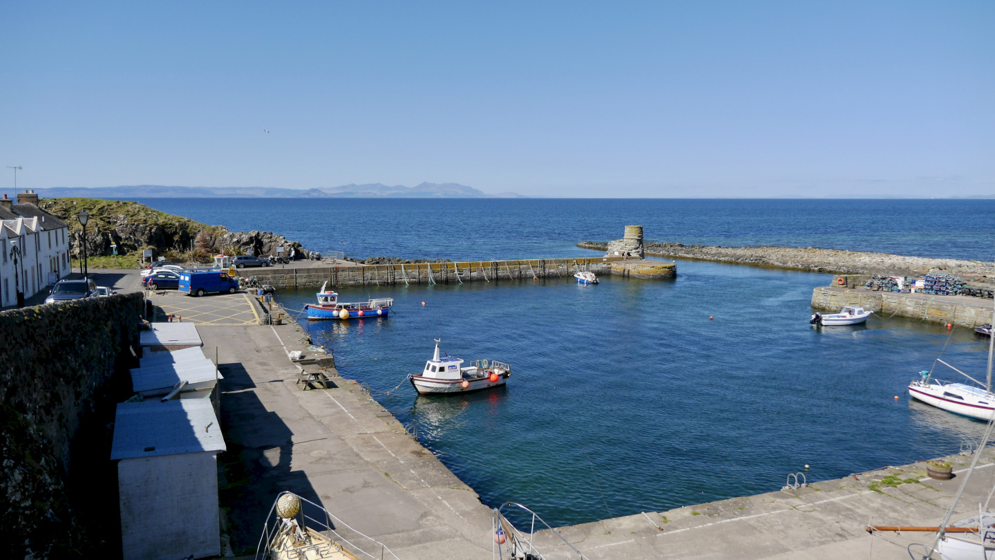 Lunch at Dunure harbour