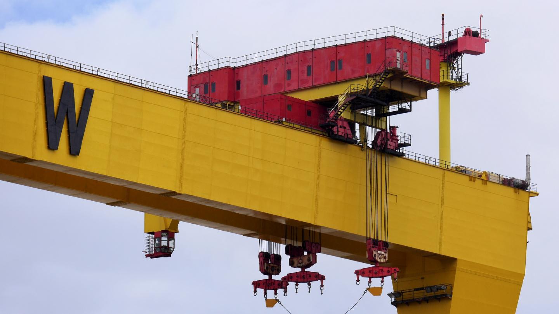 Engine room of Harland & Wolff's crane in Belfast