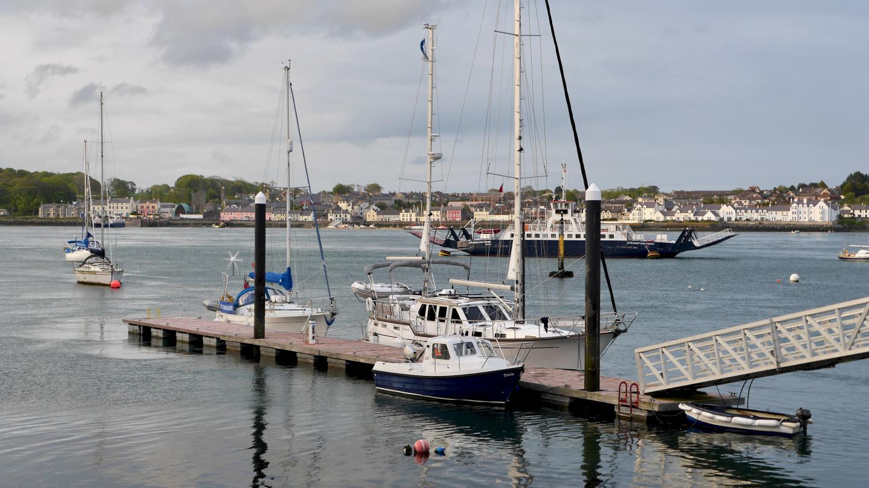Suwena at the pontoon of Strangford