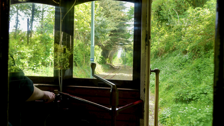 Tram journey on the Isle of Man