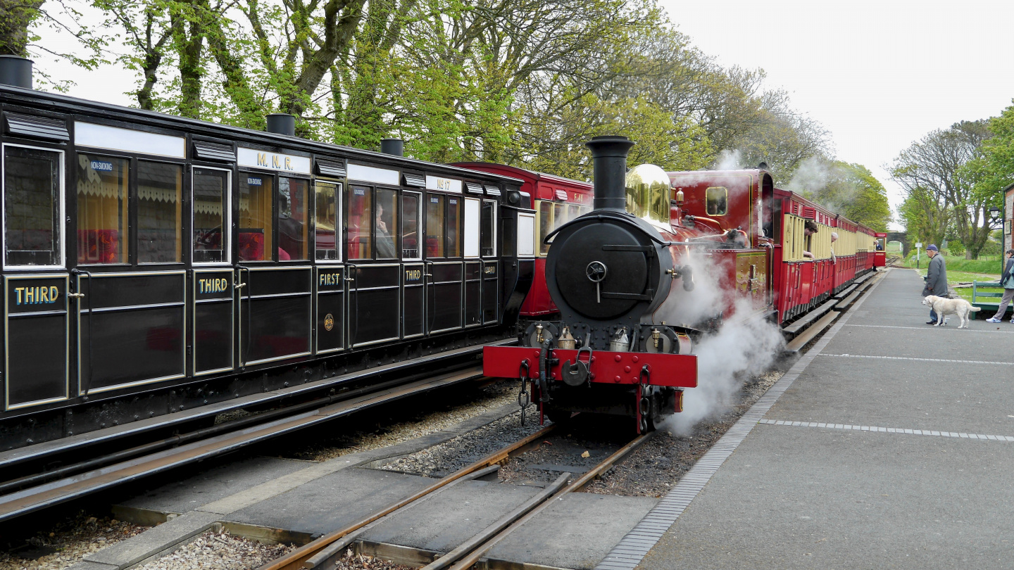 Steam train on the Isle of Man
