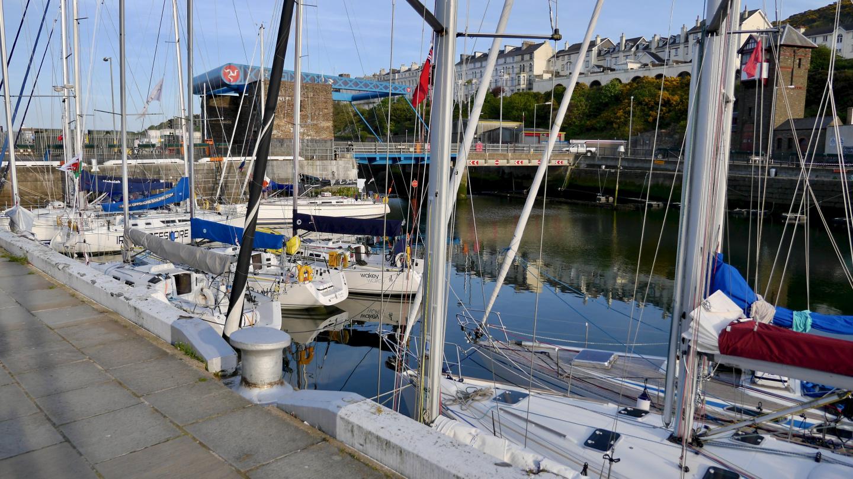 Visiting yachts in Douglas marina