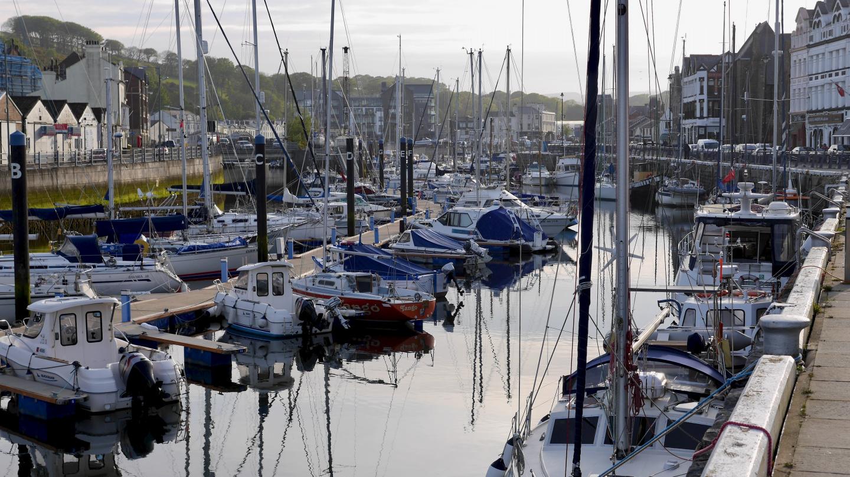 Douglas marina on the Isle of Man