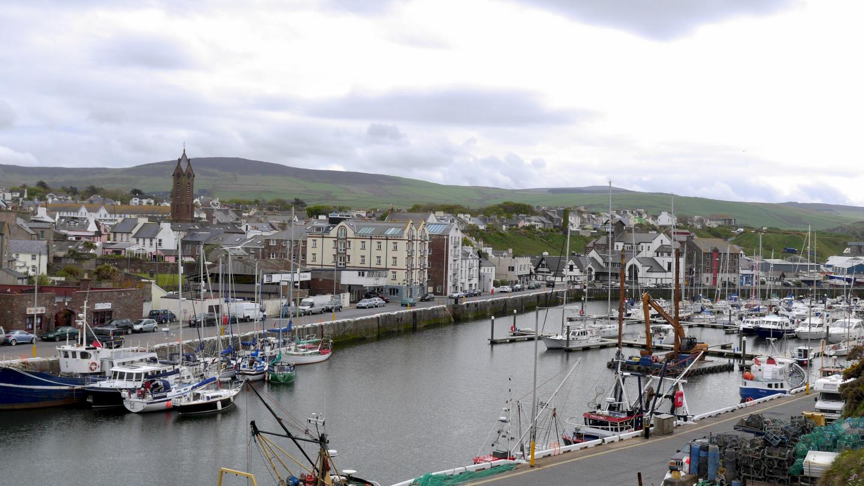Peel marina on the Isle of Man