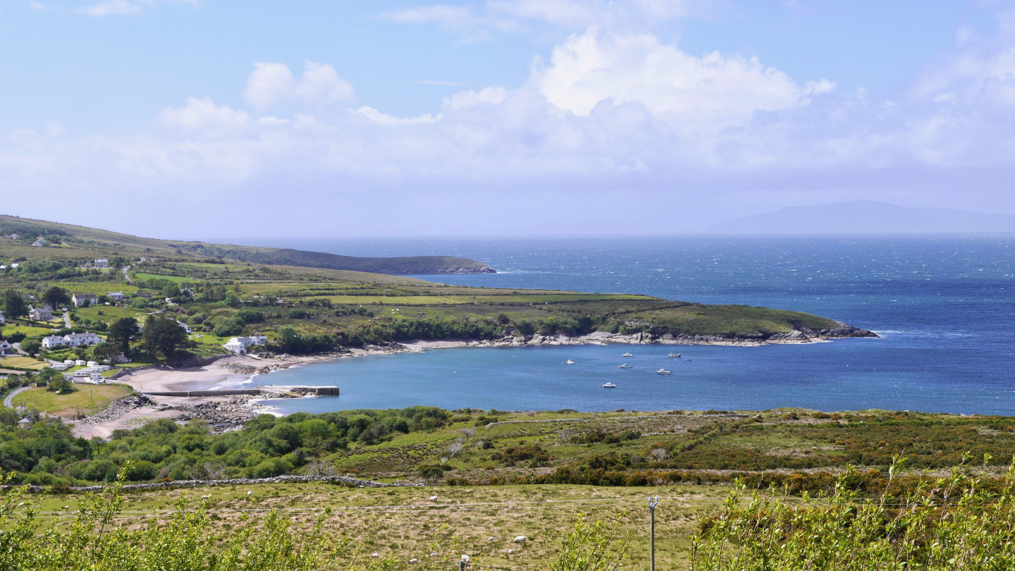 Scenery of the Ring of Kerry in Ireland