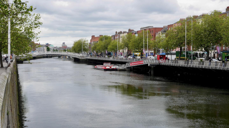 The river Liffey in Dublin