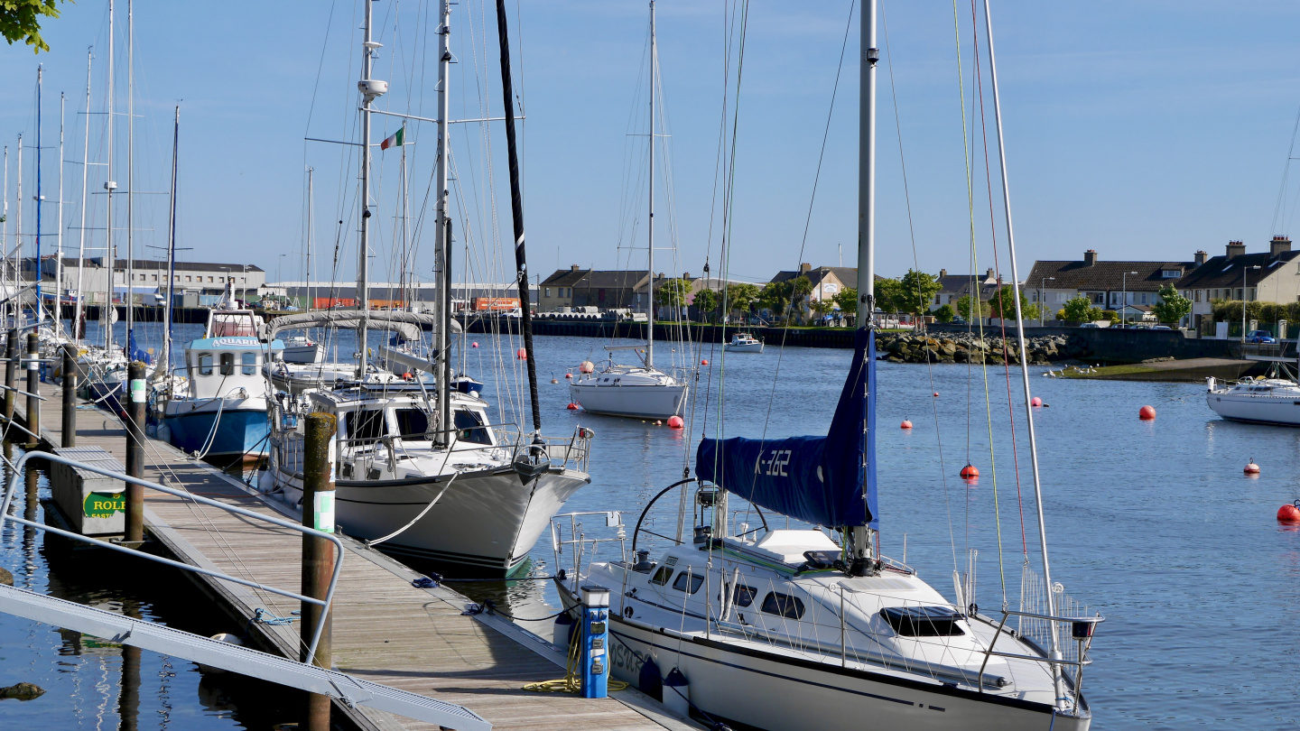 Suwena in the marina of Arklow