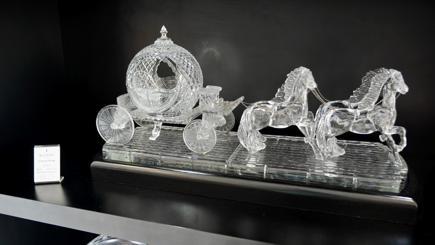 Cinderella carrige made of Waterford crystal