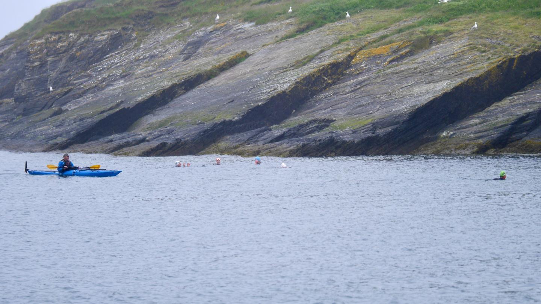 Avomeriuimarit Sandycove lahdella Irlannissa