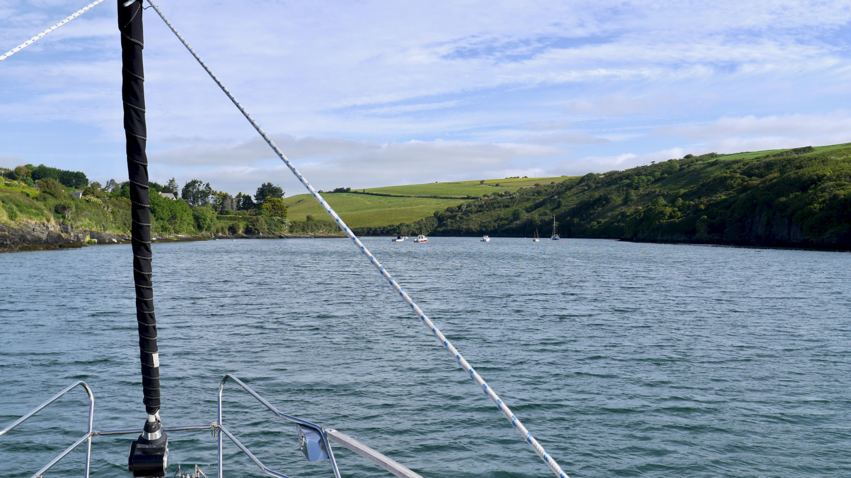 Suwena anchored on Sandycove in Ireland