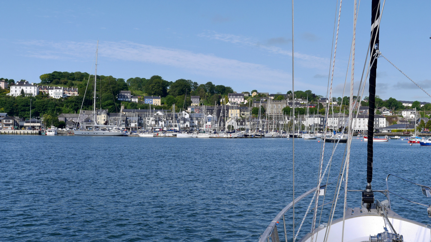 Suwena arriving in Kinsale in Ireland
