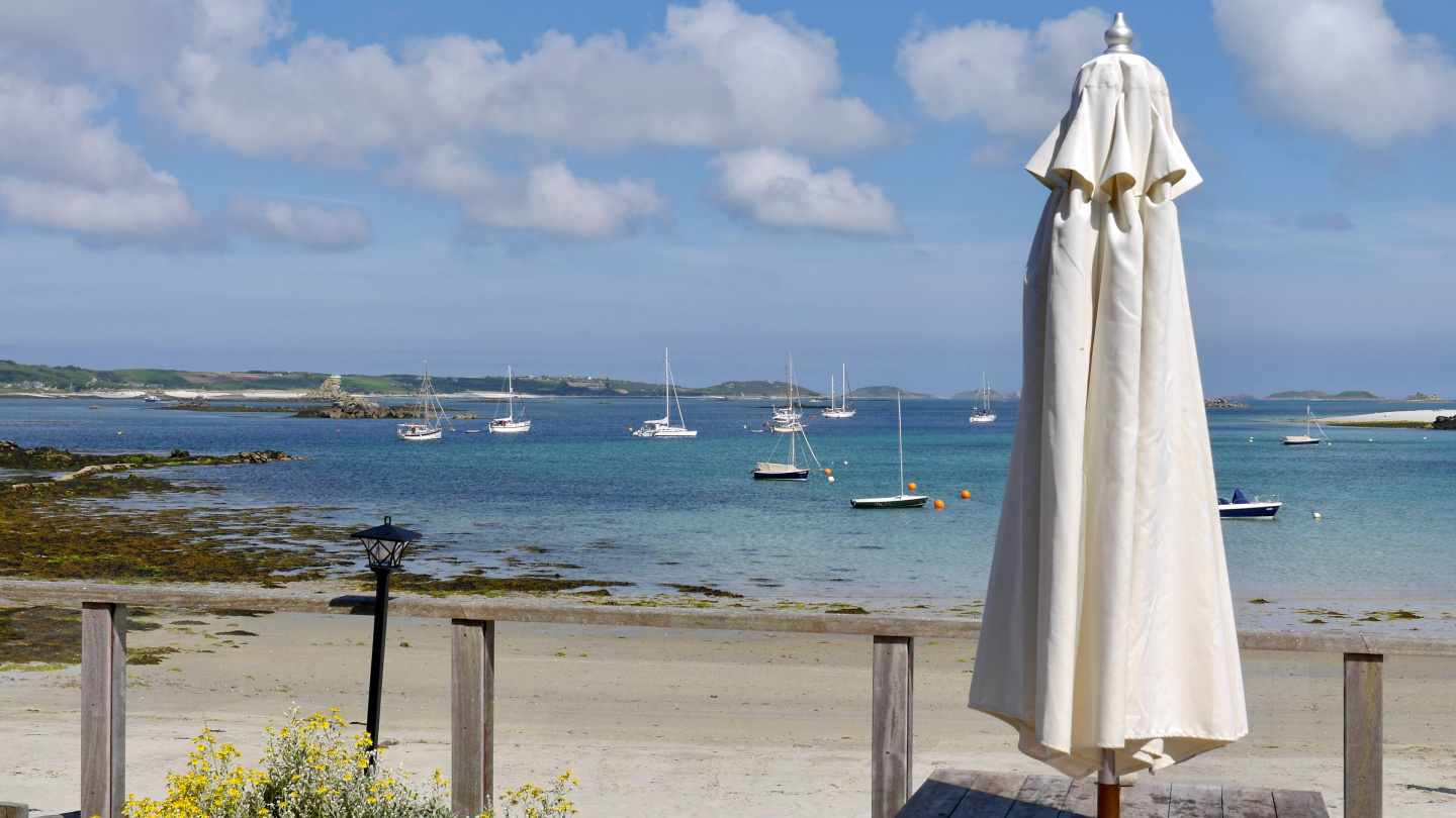Anchorage of Old Grimsby on the Tresco island on the Isles of Scilly