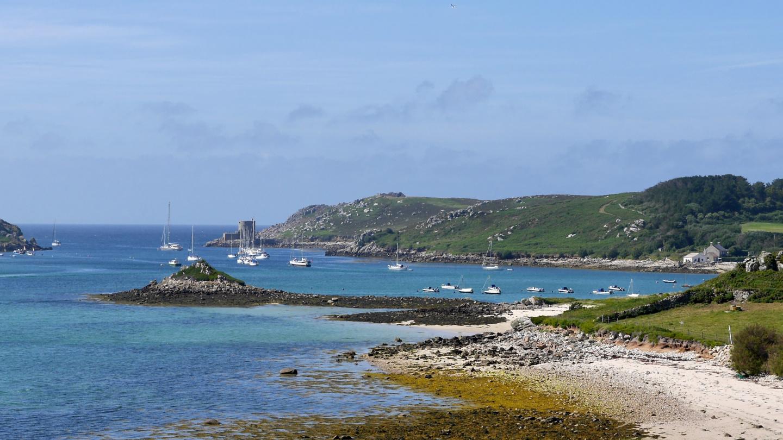 New Grimsby ankkurilahti Scillynsaarilla