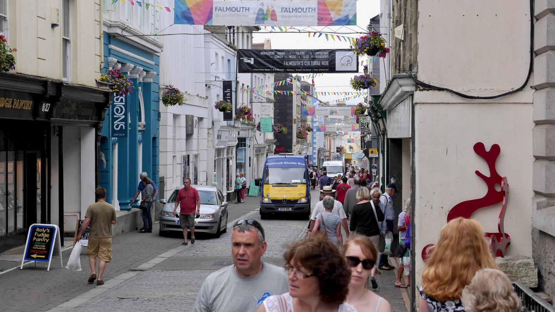 The main street of Falmouth