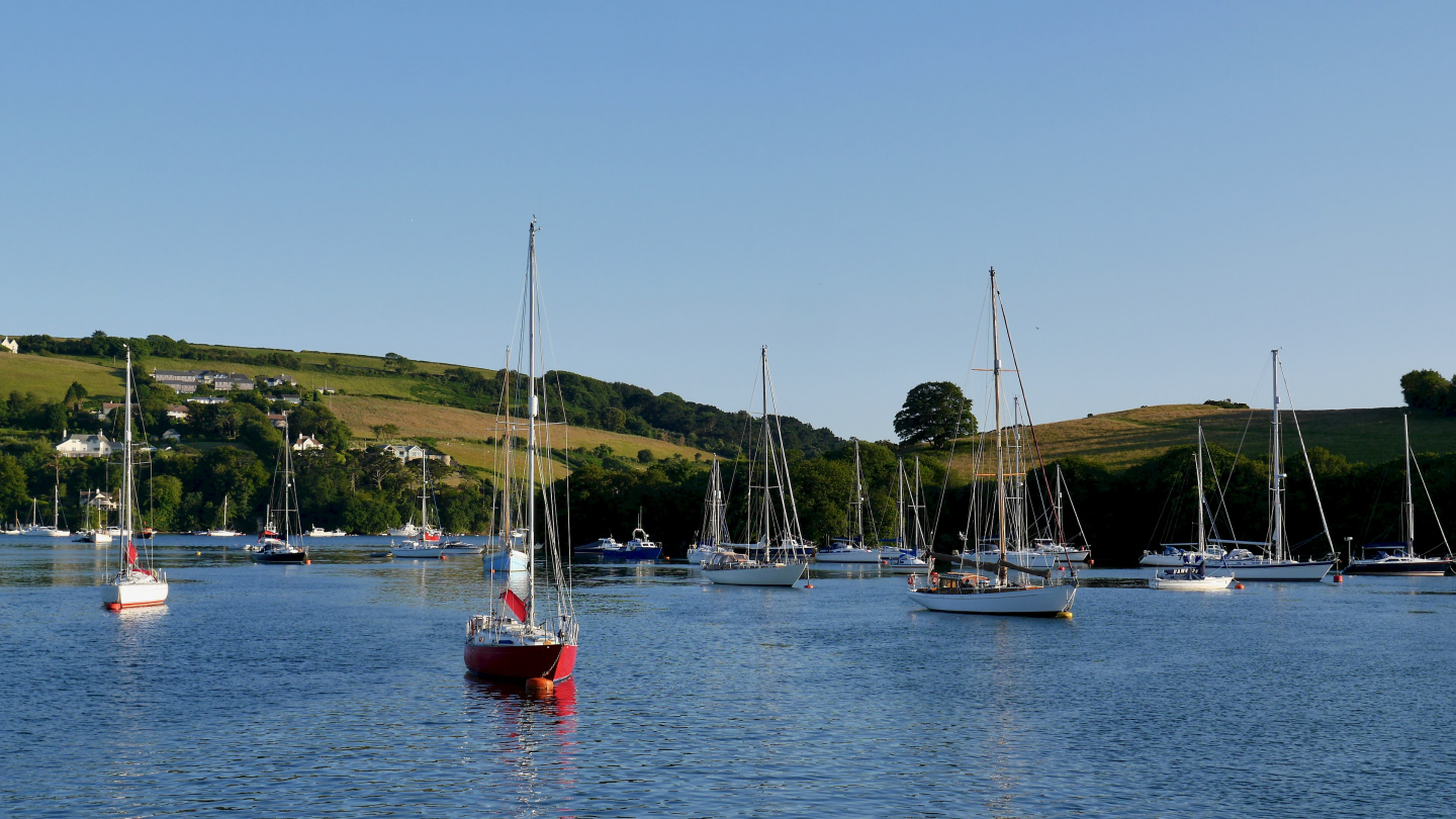 The anchorage of Salcombe