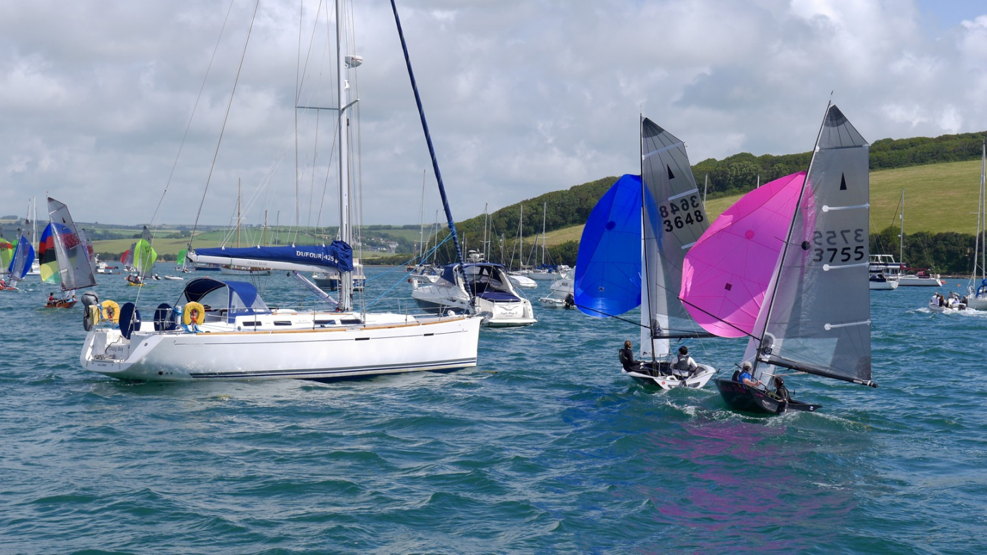 Sailing race in Salcombe