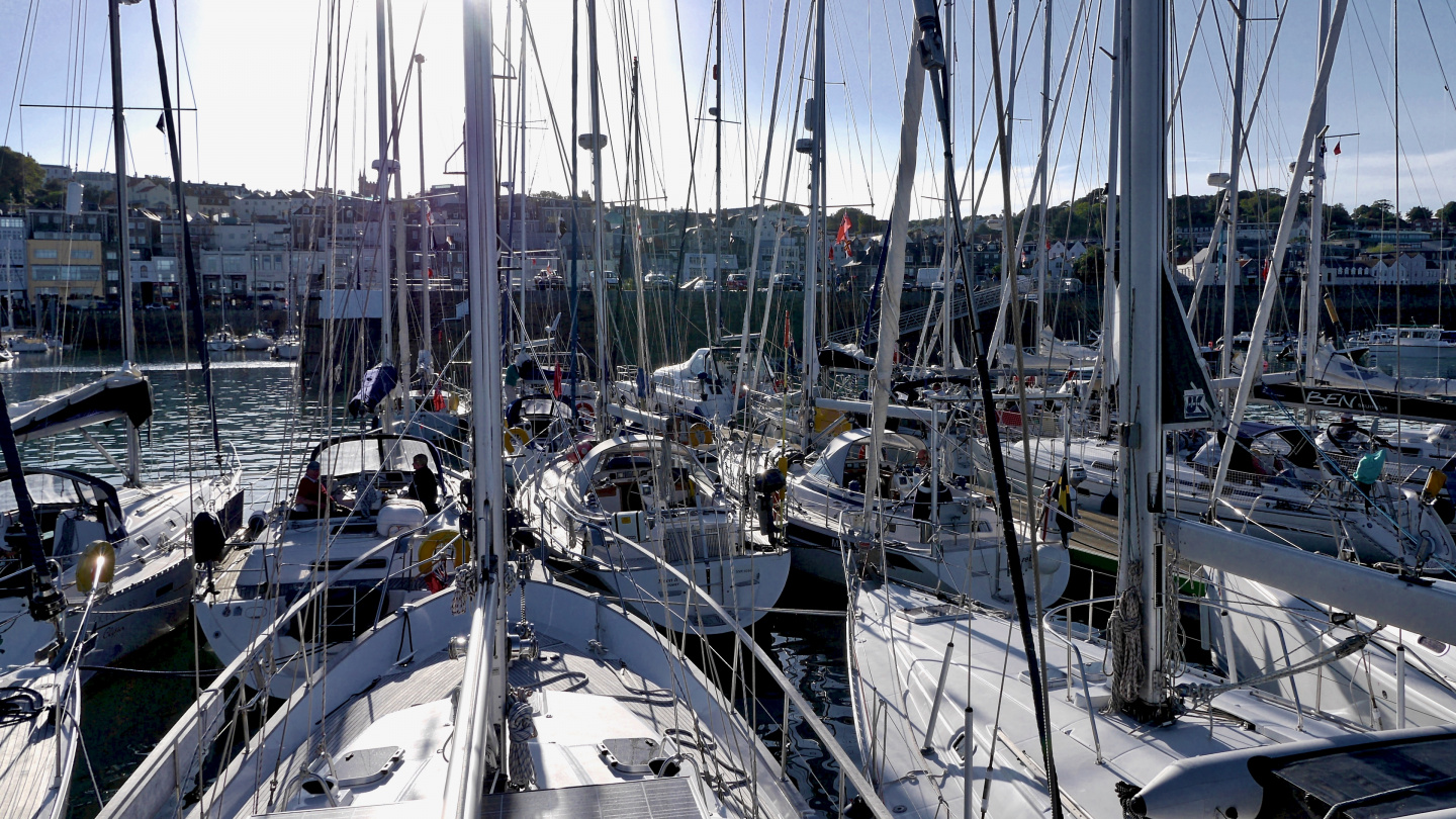 Yachts waiting for high water in Guernsey