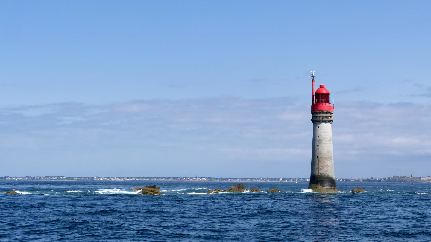 Lighthouse Grand Jardin in front of St Malo