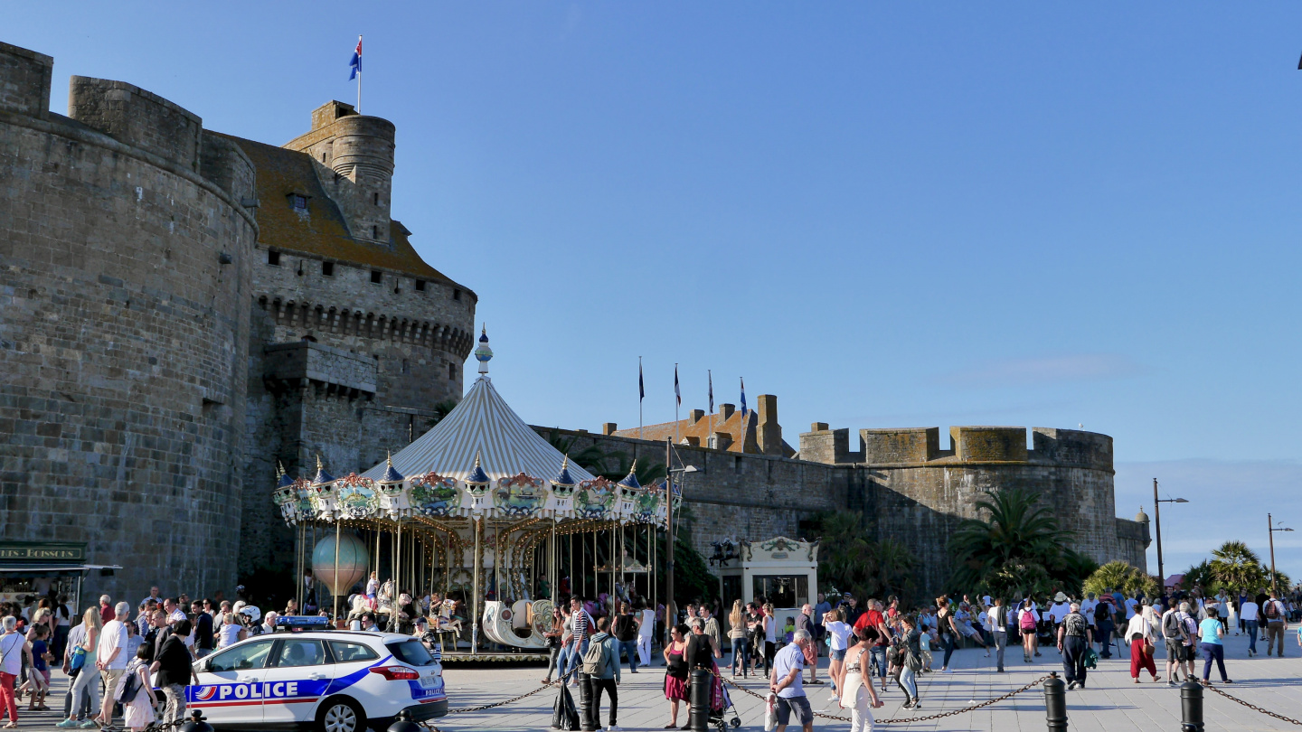 Tourists in St Malo
