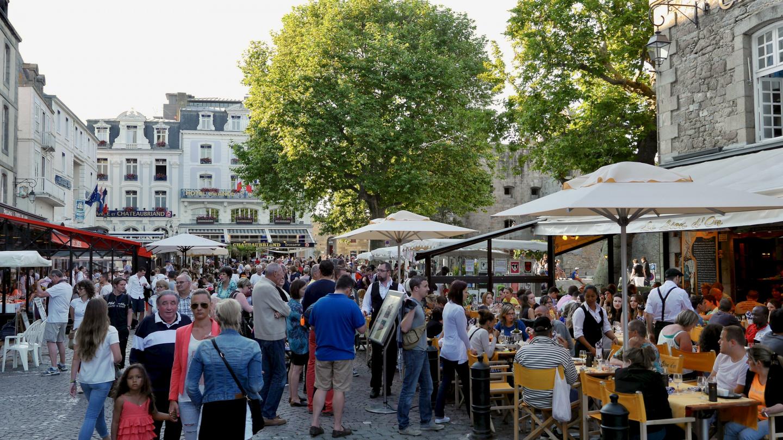 Ravintolahumua Saint-Malossa