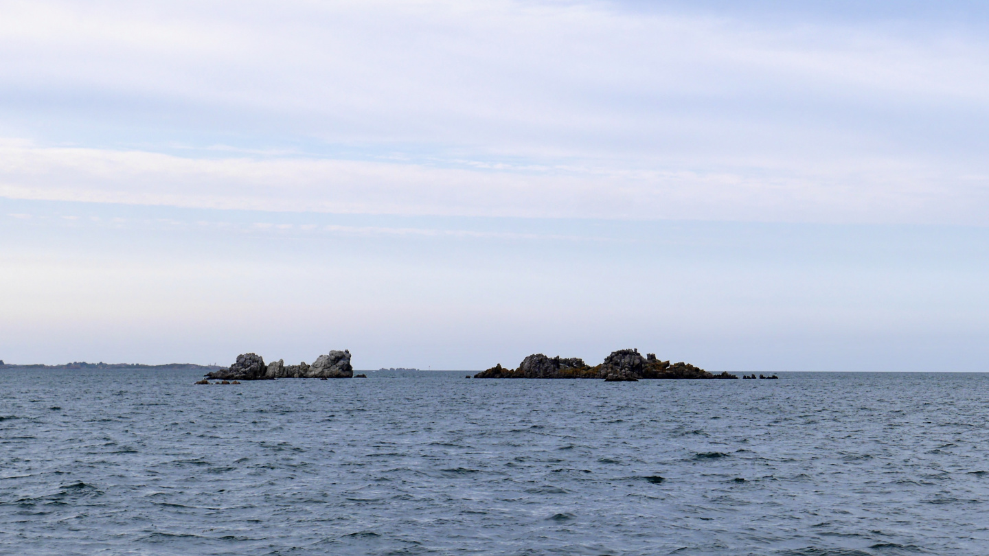 Rocks at the front of Paimpol