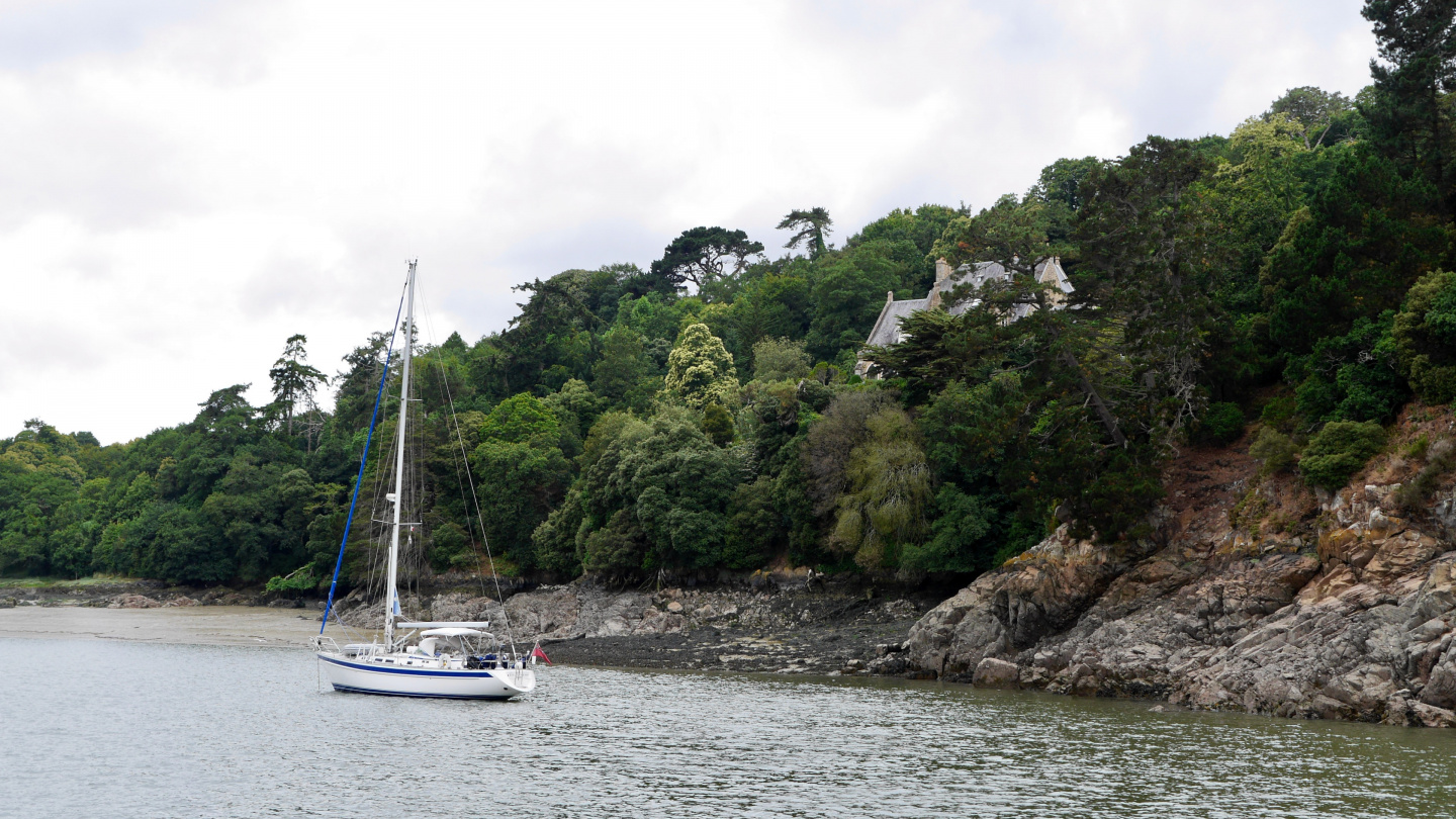 Lovely anchorage on the river Jaudy in Brittany