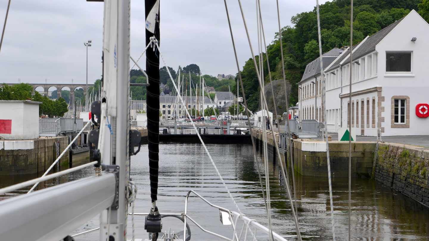 The lock of Morlaix in Brittany