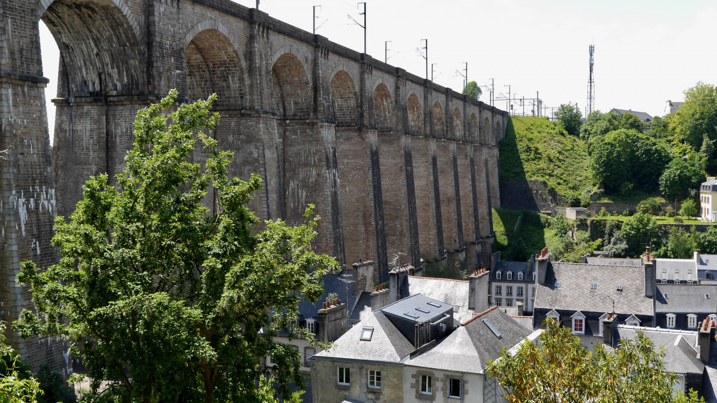 The viaduct of Morlaix in Brittany