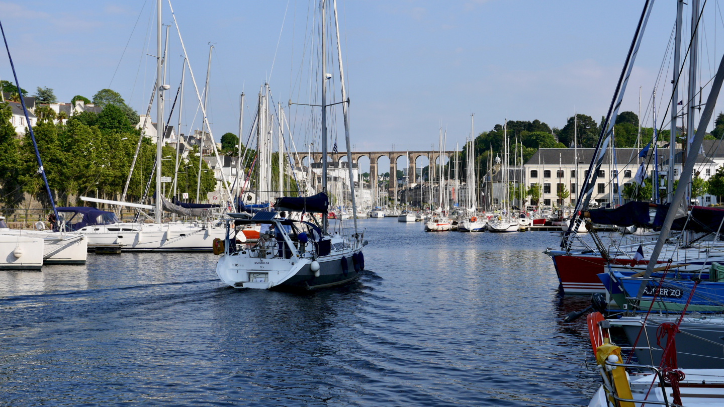 The marina of Morlaix in Brittany