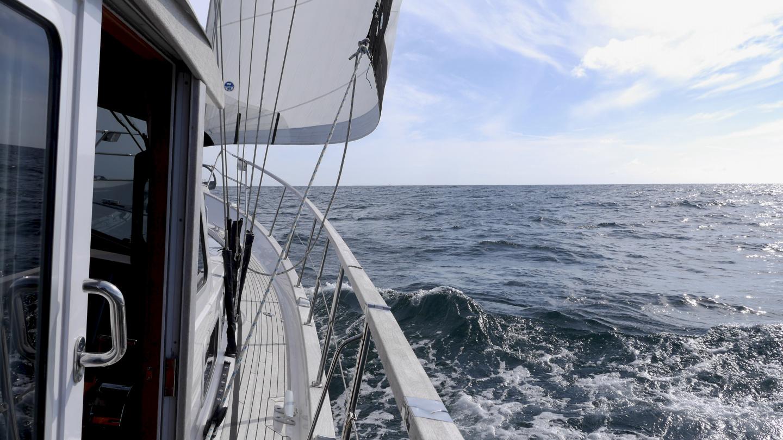 Suwena matkalla Guernseylle St Malon-lahdella