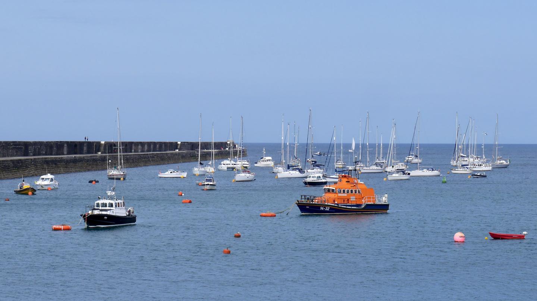 Braye satama Alderney saarella