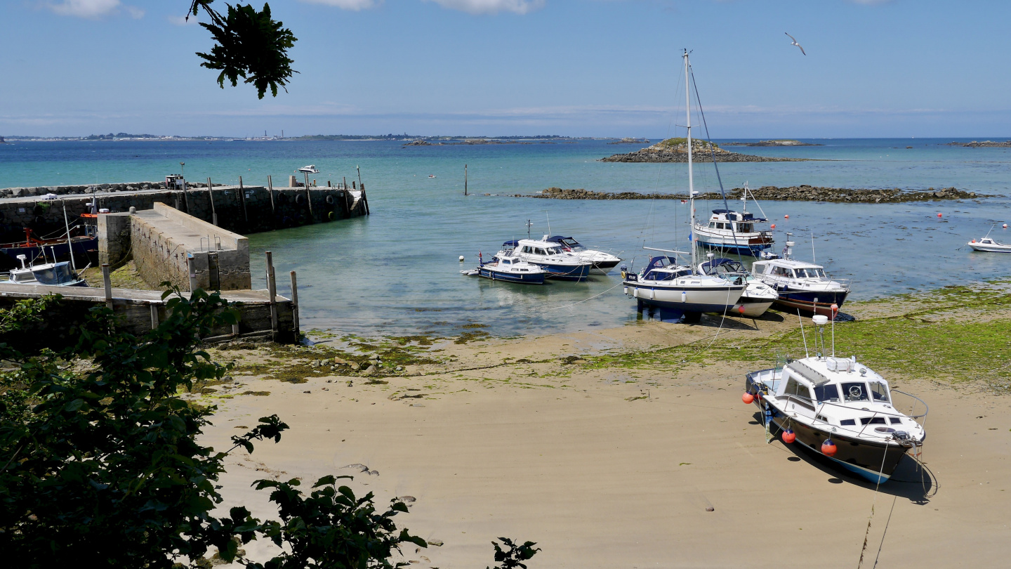 The port of Herm in the Channel Islands