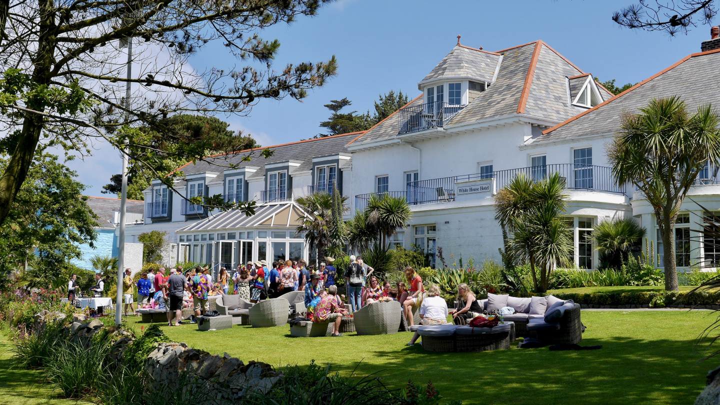 Hotel White House in the island of Herm