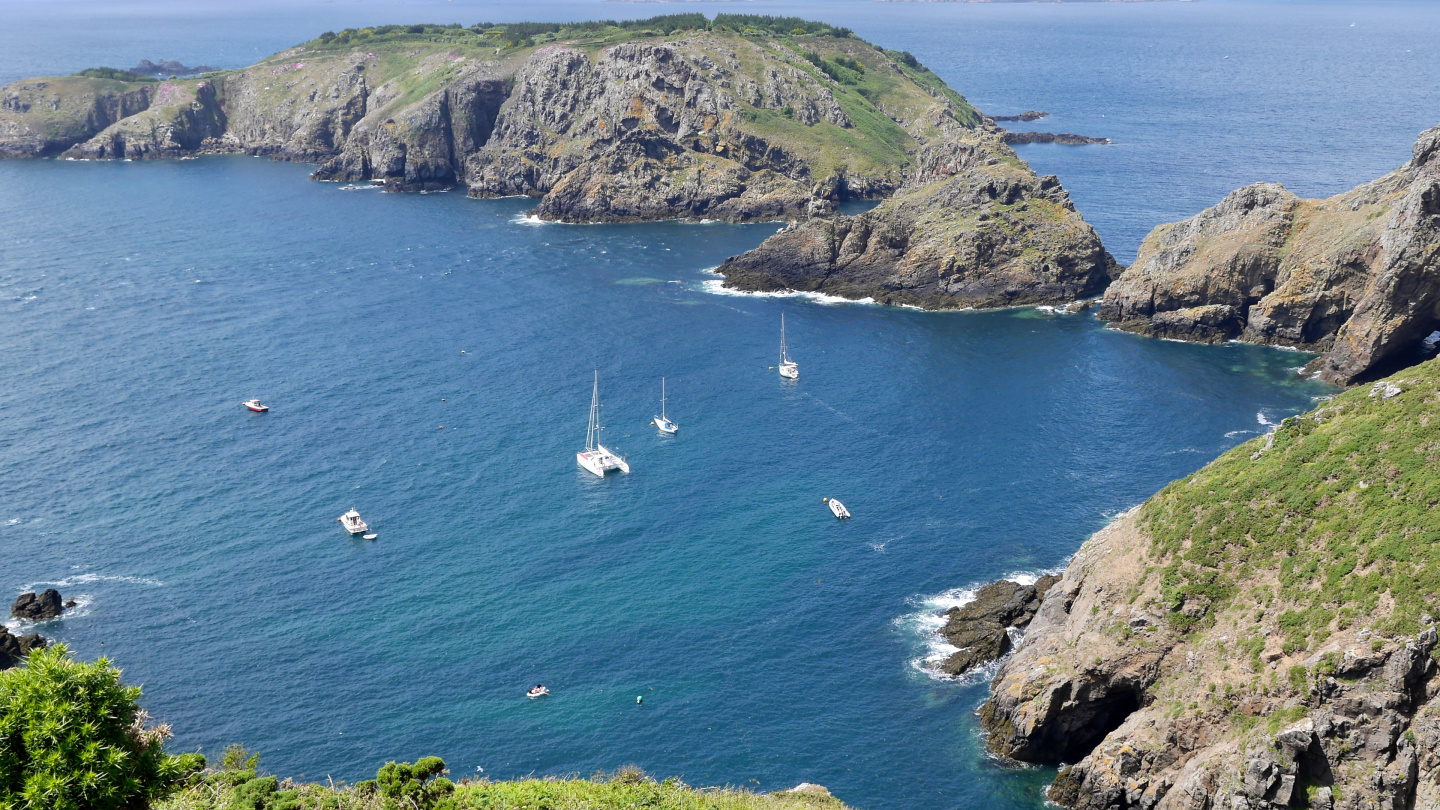 The anchorage of Havre Gosselin on the island of Sark