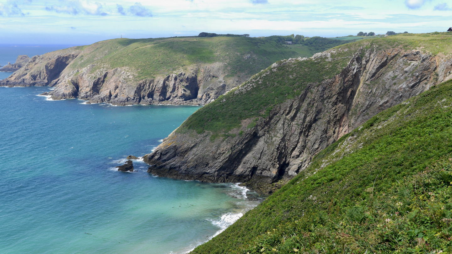 The coast of the island of Sark