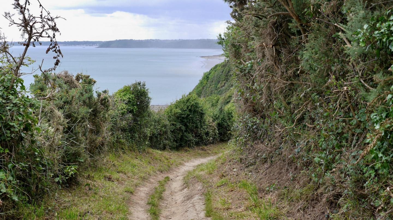Coastal footpath in Brittany