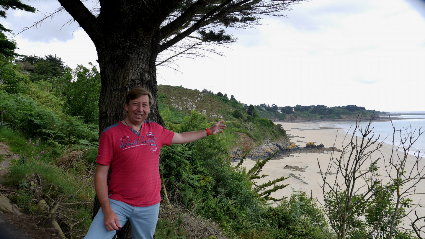 Andrus at the coast of Brittany