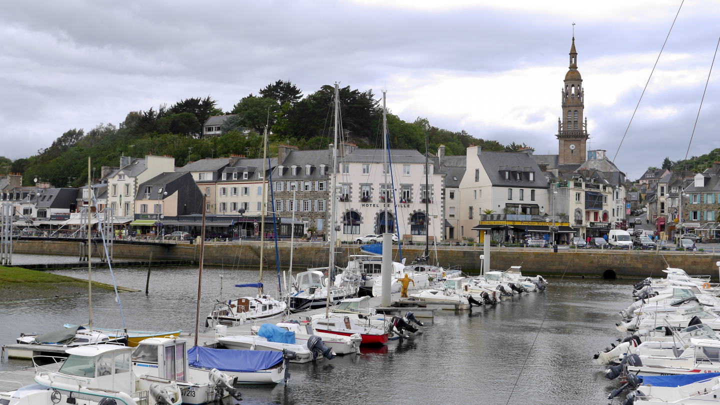 The town of Binic in Brittany