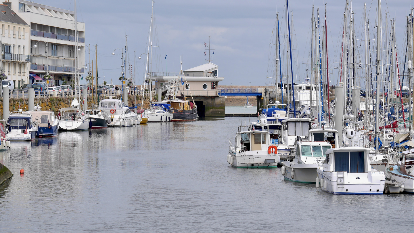 Harbour of Binic in Brittany