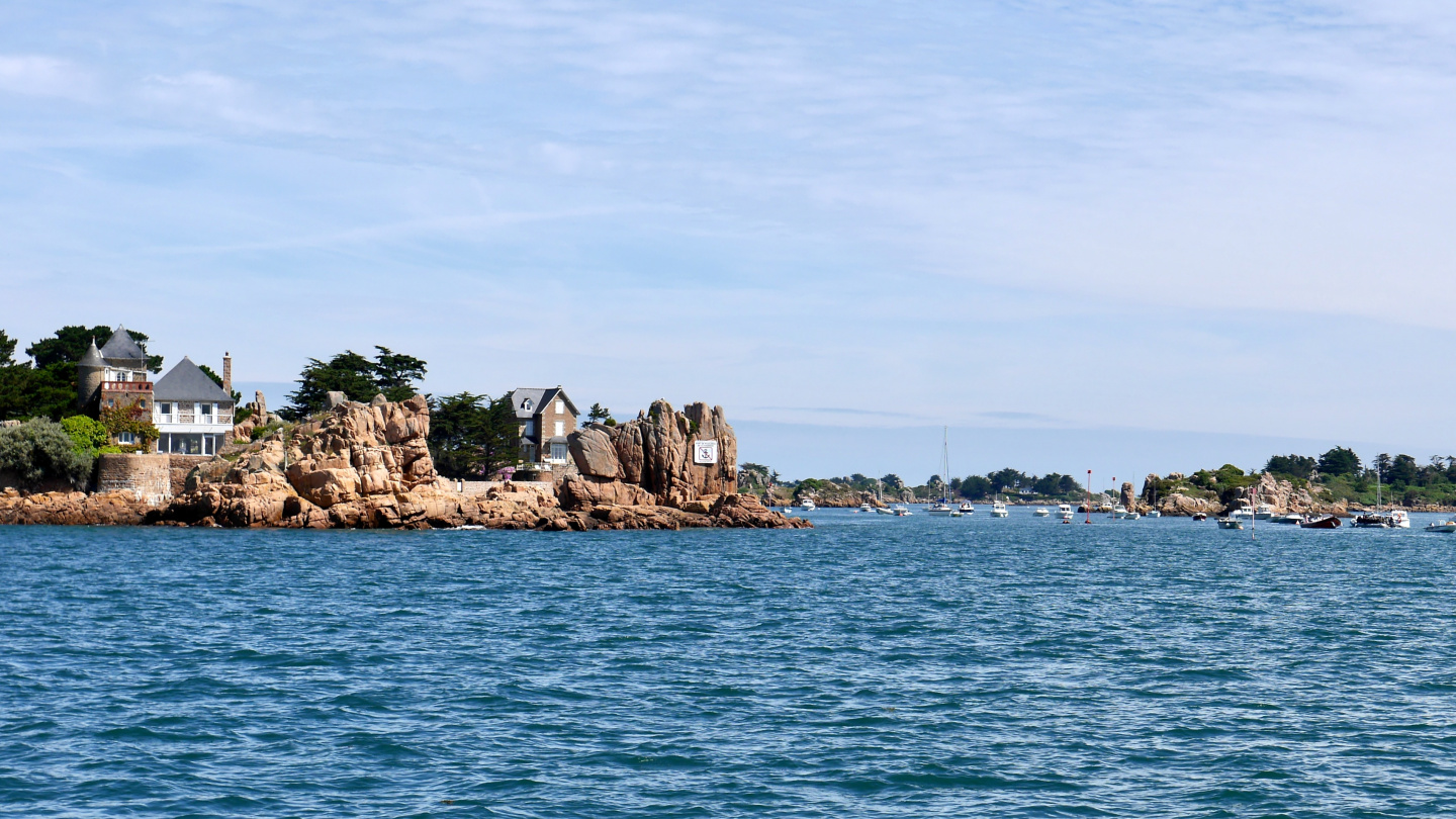 Anchorage of La Chambre at the island of Île de Bréhat in Brittany