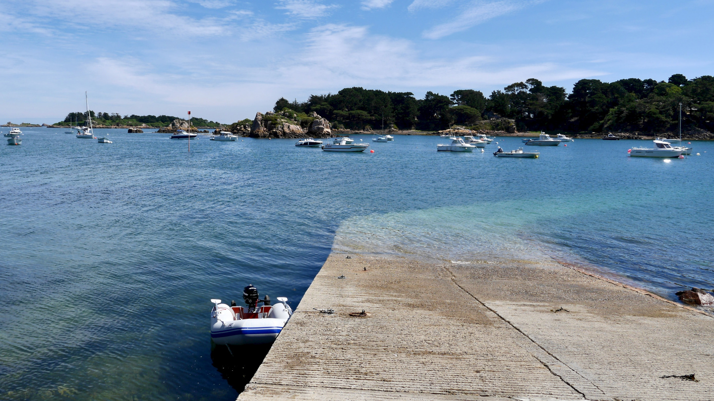 Dinghy slip of La Chambre of the island of Île de Bréhat in Brittany