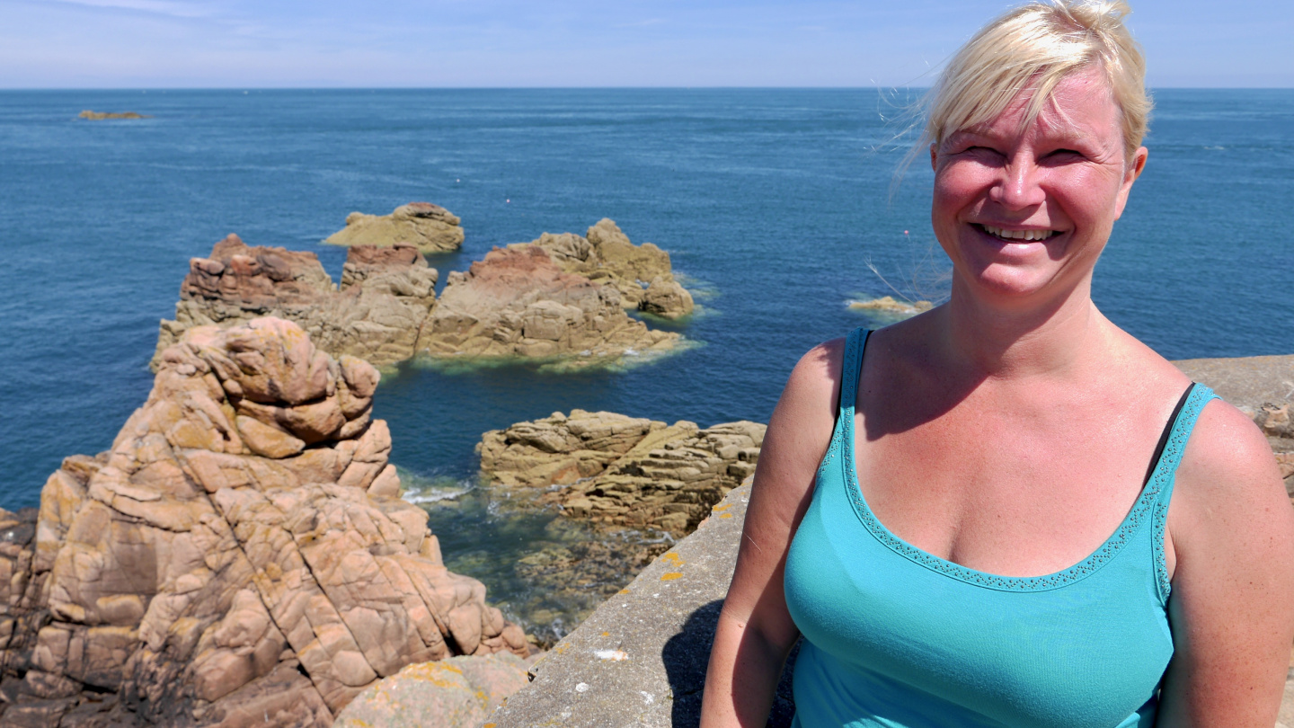 Eve at Paon lighthouse on the island of Île de Bréhat in Brittany
