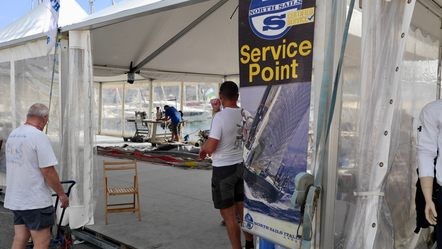 Sail service point of Rolex Middle Sea Race